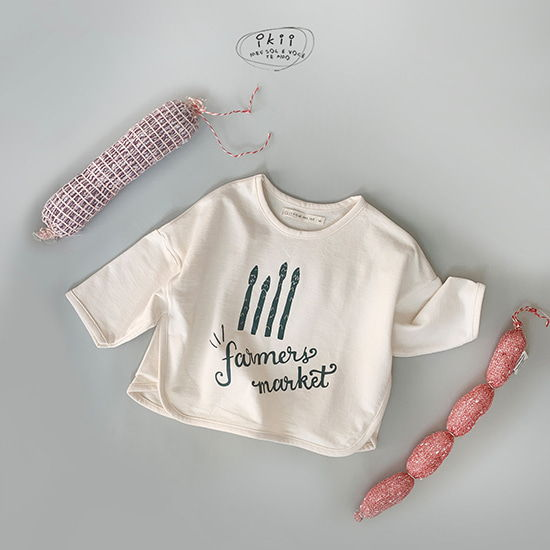 IKII - BRAND - Korean Children Fashion - #Kfashion4kids - Asparagus Tee