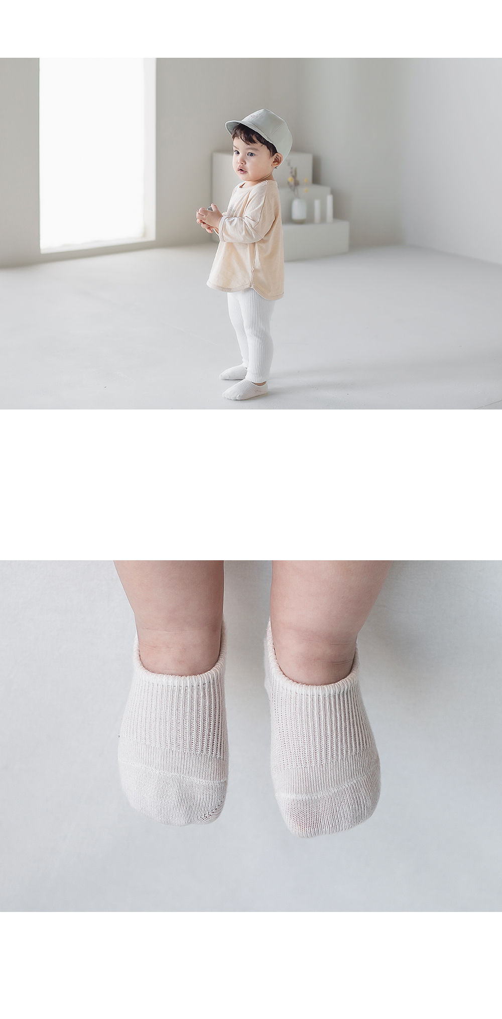 KIDS CLARA - Korean Children Fashion - #Kfashion4kids - Nest Baby Boat Socks 2-in-1 [set of 5] - 5