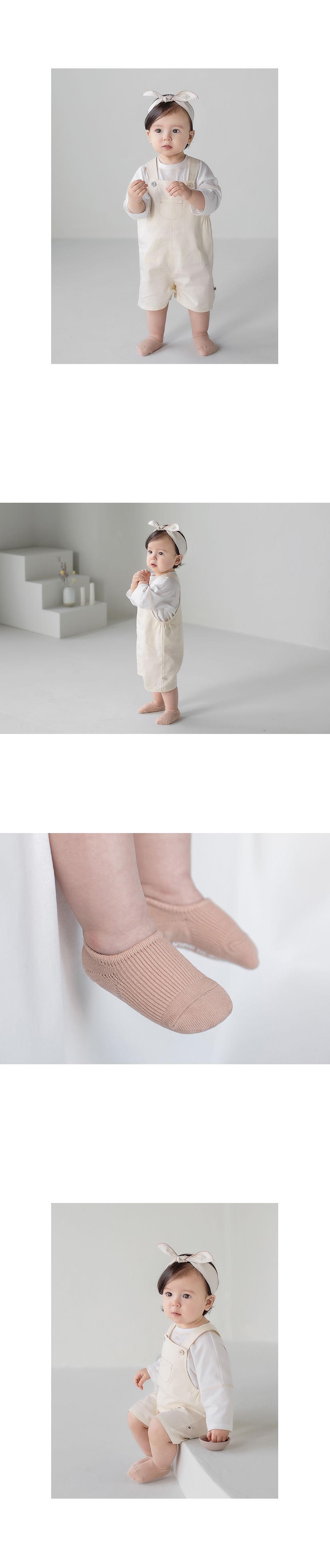 KIDS CLARA - Korean Children Fashion - #Kfashion4kids - Nest Baby Boat Socks 2-in-1 [set of 5] - 6