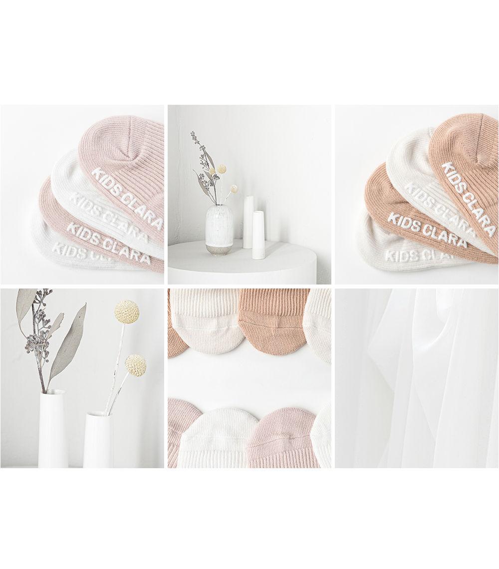 KIDS CLARA - Korean Children Fashion - #Kfashion4kids - Nest Baby Boat Socks 2-in-1 [set of 5] - 7