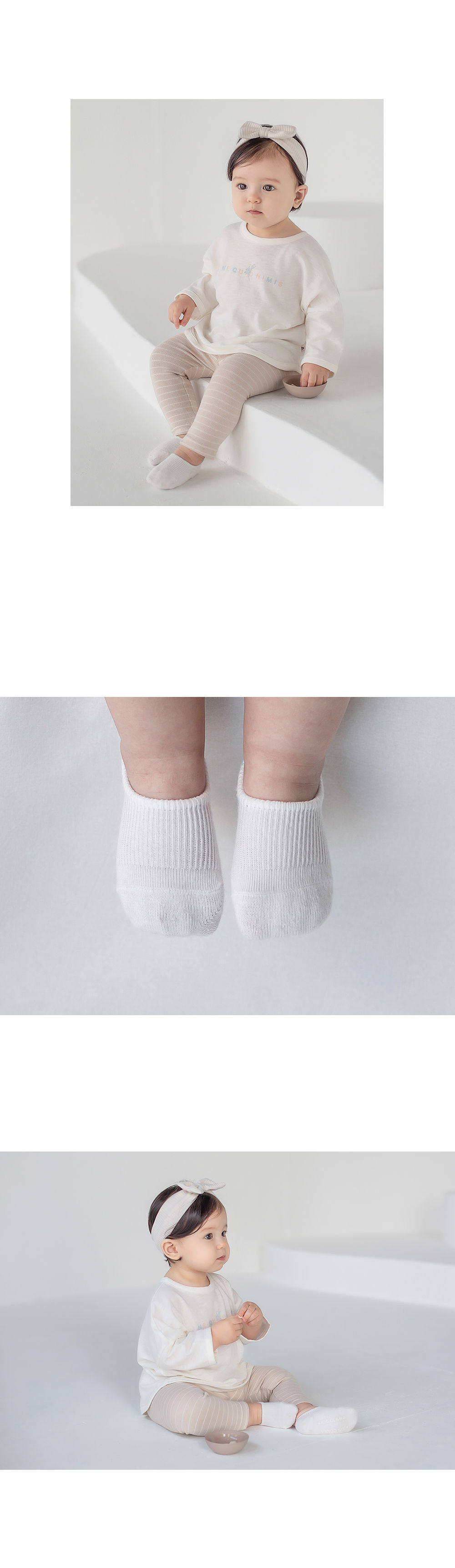 KIDS CLARA - Korean Children Fashion - #Kfashion4kids - Nest Baby Boat Socks 2-in-1 [set of 5] - 8