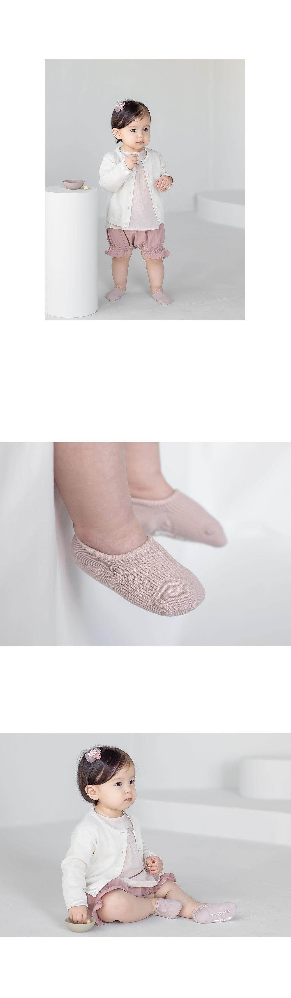 KIDS CLARA - Korean Children Fashion - #Kfashion4kids - Nest Baby Boat Socks 2-in-1 [set of 5] - 9