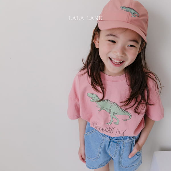 LALALAND - BRAND - Korean Children Fashion - #Kfashion4kids - Summer Dinosaur Tee