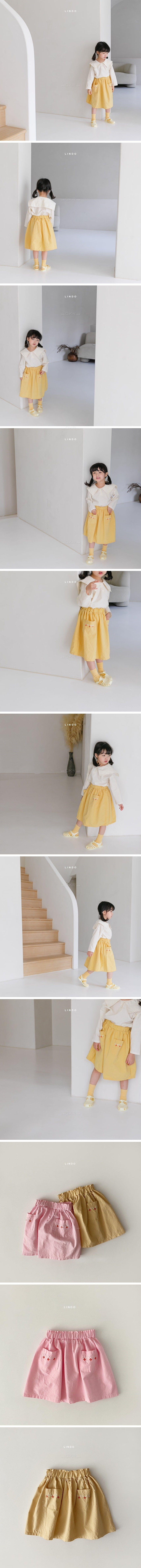 LINDO - Korean Children Fashion - #Kfashion4kids - Flower Embroidery Skirt