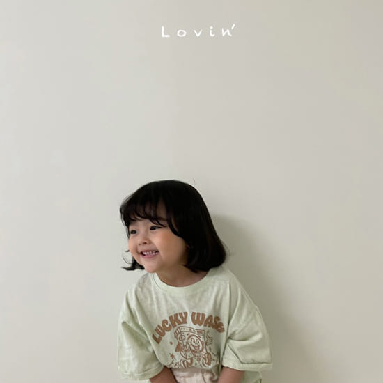 LOVIN - BRAND - Korean Children Fashion - #Kfashion4kids - Washing Tee