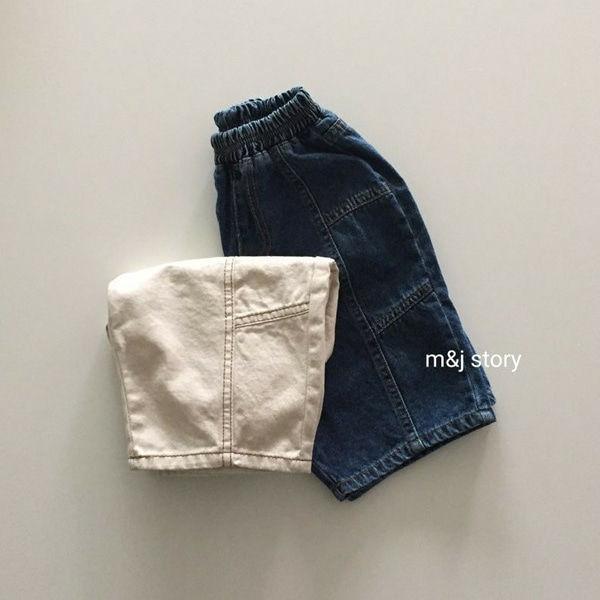 M & J STORY - BRAND - Korean Children Fashion - #Kfashion4kids - Sticth Denim Pants