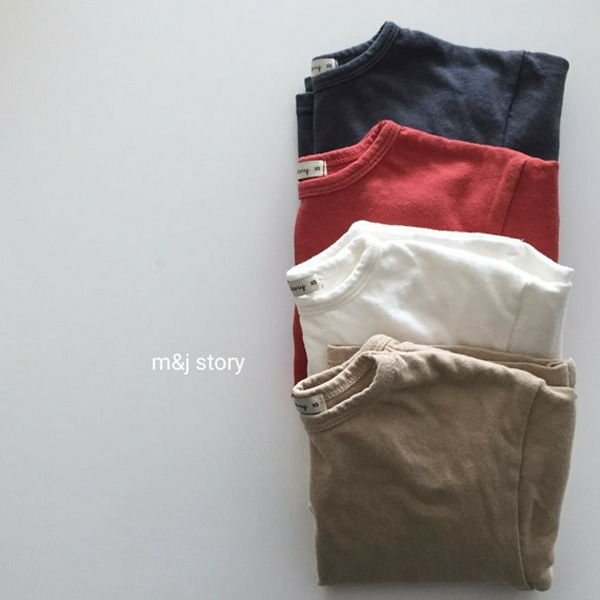 M & J STORY - BRAND - Korean Children Fashion - #Kfashion4kids - Sponge Tee