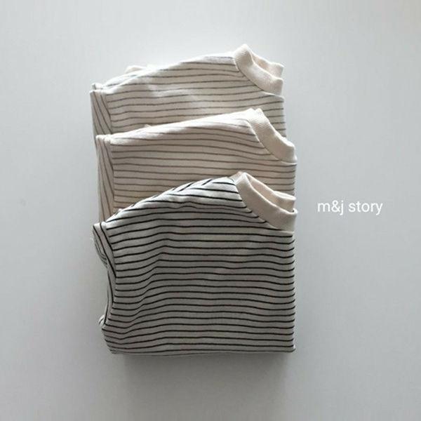 M & J STORY - BRAND - Korean Children Fashion - #Kfashion4kids - Stripes Long Sweatshirt