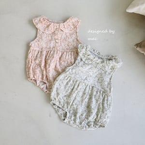 MAC - BRAND - Korean Children Fashion - #Kfashion4kids - Collar Sleeveless Bodysuit