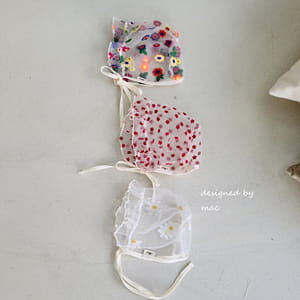 MAC - BRAND - Korean Children Fashion - #Kfashion4kids - Embroidery Bonnet