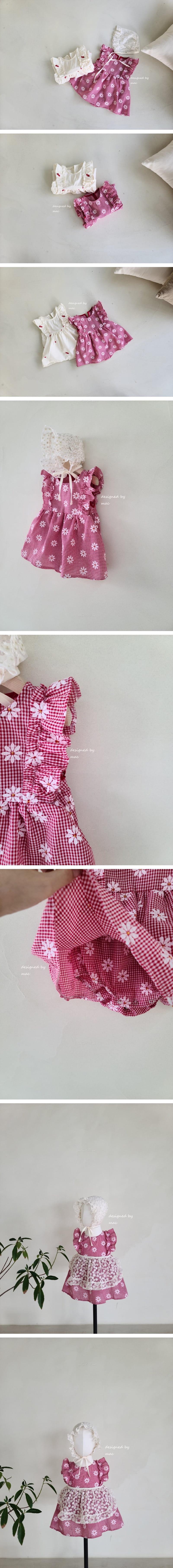 MAC - Korean Children Fashion - #Kfashion4kids - Embroidery One-piece Sleeveless Bodysuit