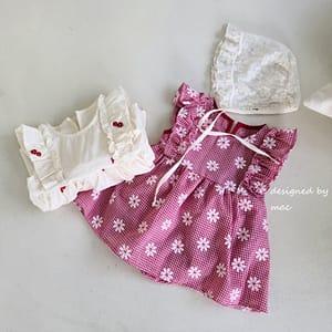 MAC - BRAND - Korean Children Fashion - #Kfashion4kids - Embroidery One-piece Sleeveless Bodysuit