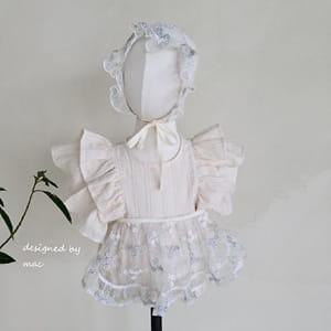 MAC - BRAND - Korean Children Fashion - #Kfashion4kids - Embroidery Apron