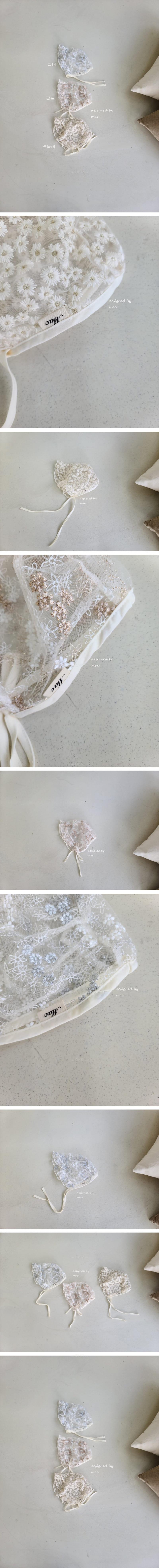 MAC - Korean Children Fashion - #Kfashion4kids - Embroidery Bonnet