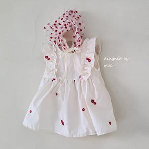 MAC - BRAND - Korean Children Fashion - #Kfashion4kids - Embroidery Sleeveless One-piece Bodysuit