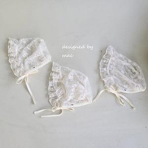 MAC - BRAND - Korean Children Fashion - #Kfashion4kids - Lace Bonnet