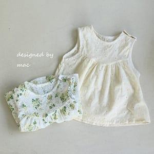 MAC - BRAND - Korean Children Fashion - #Kfashion4kids - Lace Sleeveless Blouse