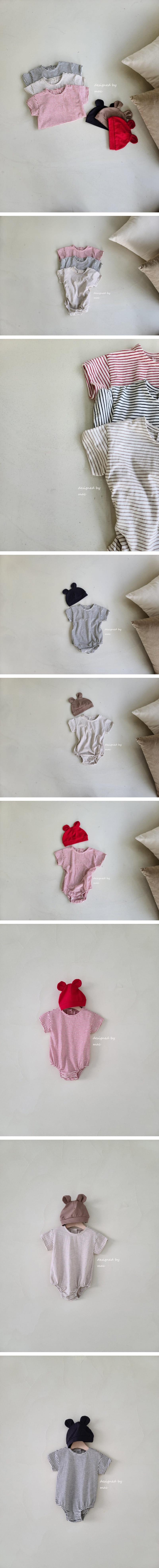 MAC - Korean Children Fashion - #Kfashion4kids - Daily Stripes Bodysuit