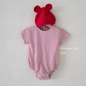 MAC - BRAND - Korean Children Fashion - #Kfashion4kids - Daily Stripes Bodysuit