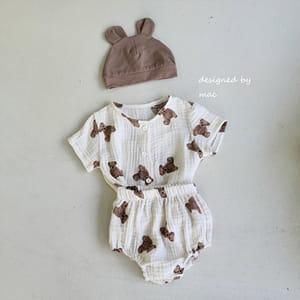 MAC - BRAND - Korean Children Fashion - #Kfashion4kids - Bear Top Bloomer Set