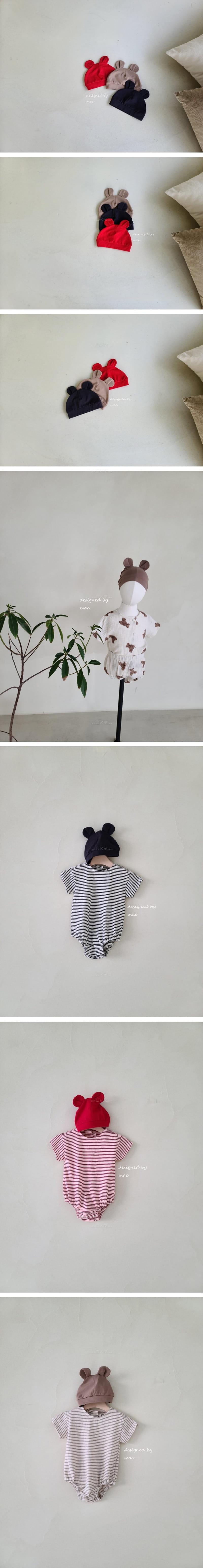 MAC - Korean Children Fashion - #Kfashion4kids - Bear Bonnet