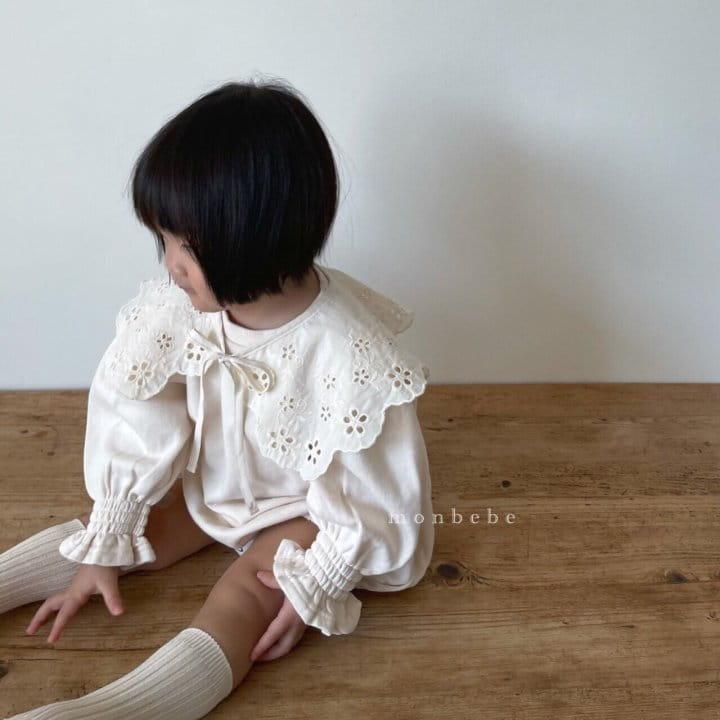 MONBEBE - Korean Children Fashion - #Kfashion4kids - Easy Smocked Bodysuit - 4