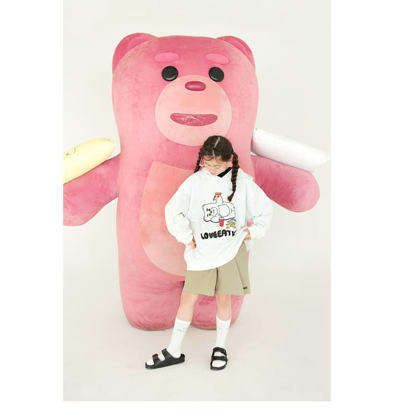 PEACH-CREAM - Korean Children Fashion - #Kfashion4kids - Bellygom Pchees Hoody