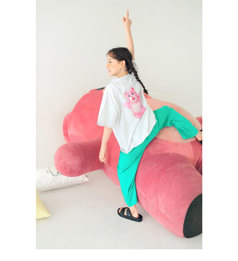 PEACH-CREAM - Korean Children Fashion - #Kfashion4kids - Bellygom Pchees Top Bottom Set