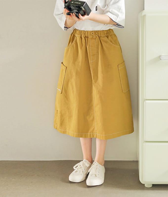 PEACH-CREAM - BRAND - Korean Children Fashion - #Kfashion4kids - Allen Skirt