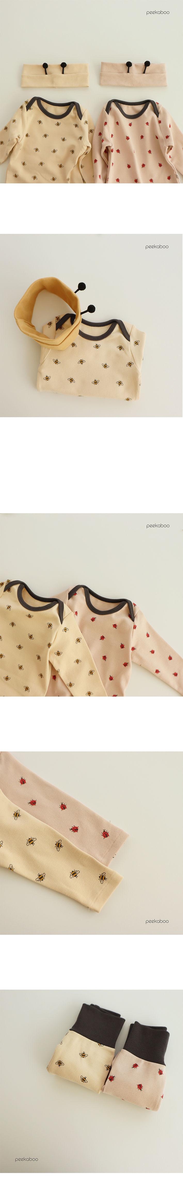 PEEKABOO - Korean Children Fashion - #Kfashion4kids - Honeybee Bodysuit with Leggings - 2