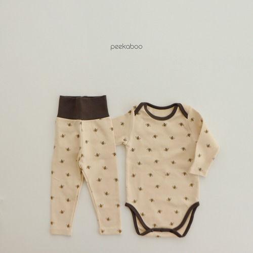 PEEKABOO - BRAND - Korean Children Fashion - #Kfashion4kids - Honeybee Bodysuit with Leggings