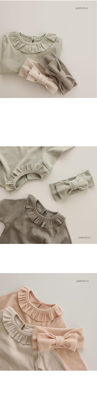 PEEKABOO - Korean Children Fashion - #Kfashion4kids - Milky Bodysuit with Leggings - 2