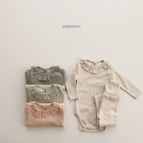 PEEKABOO - BRAND - Korean Children Fashion - #Kfashion4kids - Milky Bodysuit with Leggings