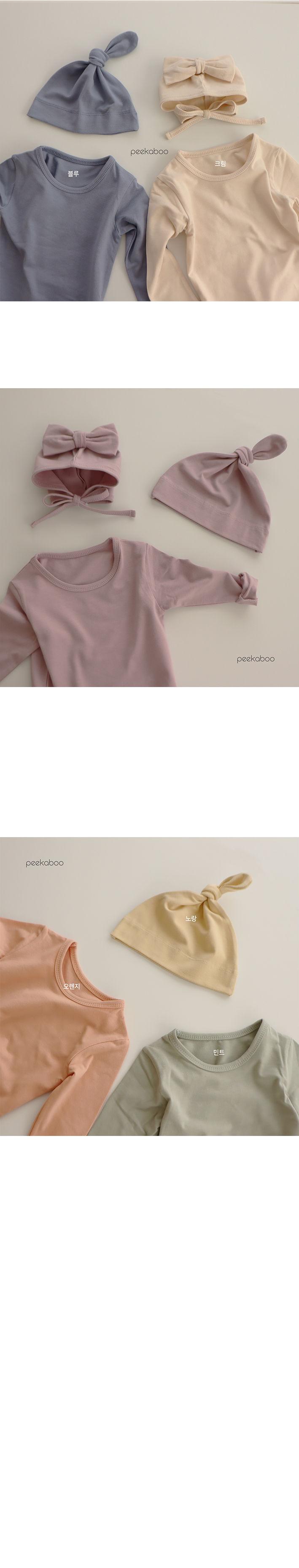 PEEKABOO - Korean Children Fashion - #Kfashion4kids - Modal Knot Hats - 3
