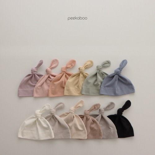PEEKABOO - BRAND - Korean Children Fashion - #Kfashion4kids - Modal Knot Hats