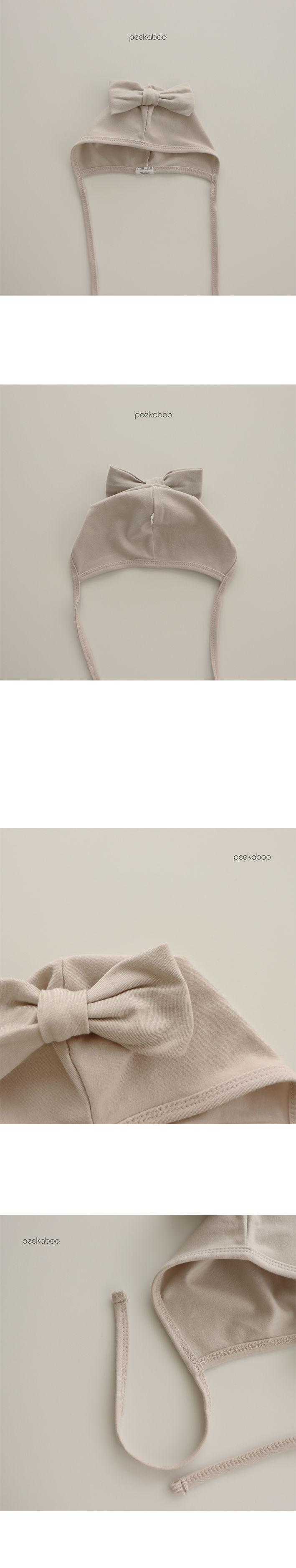 PEEKABOO - Korean Children Fashion - #Kfashion4kids - Modal Ribbon Bonnet - 2