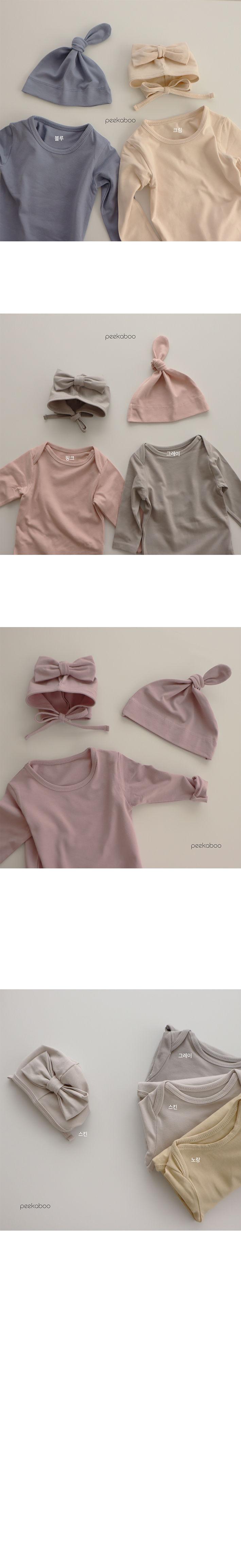 PEEKABOO - Korean Children Fashion - #Kfashion4kids - Modal Ribbon Bonnet - 3