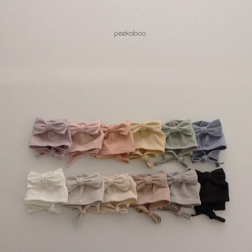PEEKABOO - BRAND - Korean Children Fashion - #Kfashion4kids - Modal Ribbon Bonnet