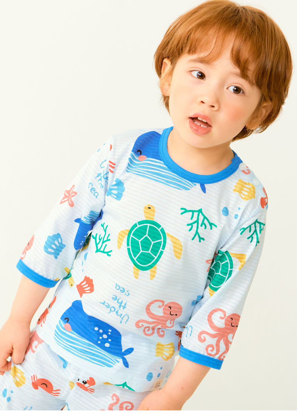 TTASOM - Korean Children Fashion - #Kfashion4kids - Ocean Animal Easywear - 3