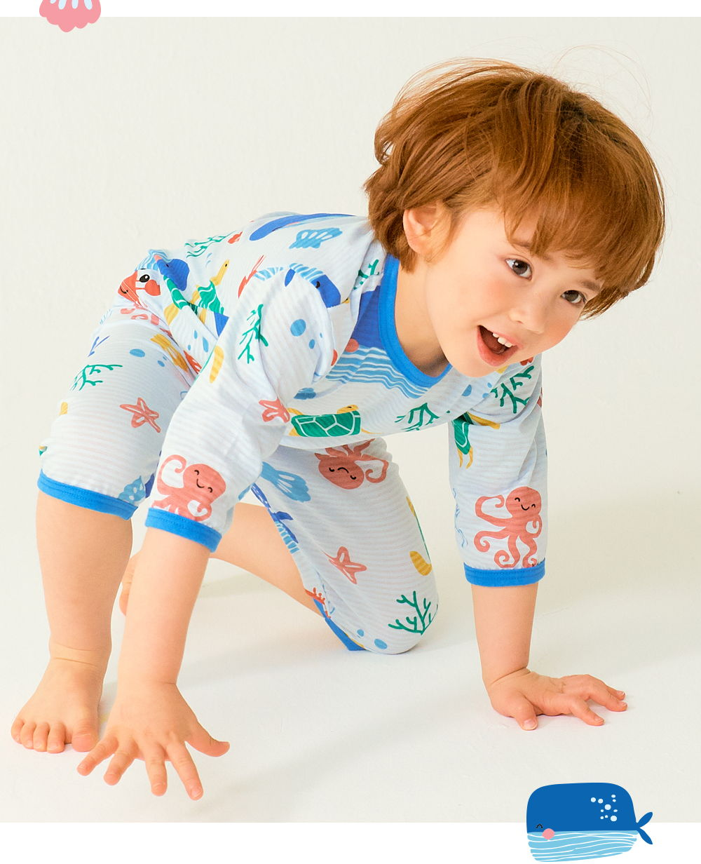 TTASOM - Korean Children Fashion - #Kfashion4kids - Ocean Animal Easywear - 6