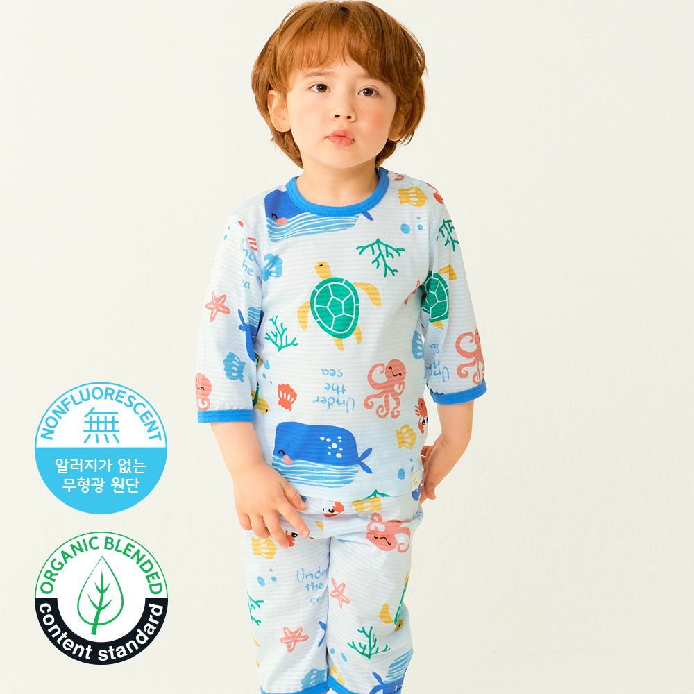TTASOM - BRAND - Korean Children Fashion - #Kfashion4kids - Ocean Animal Easywear