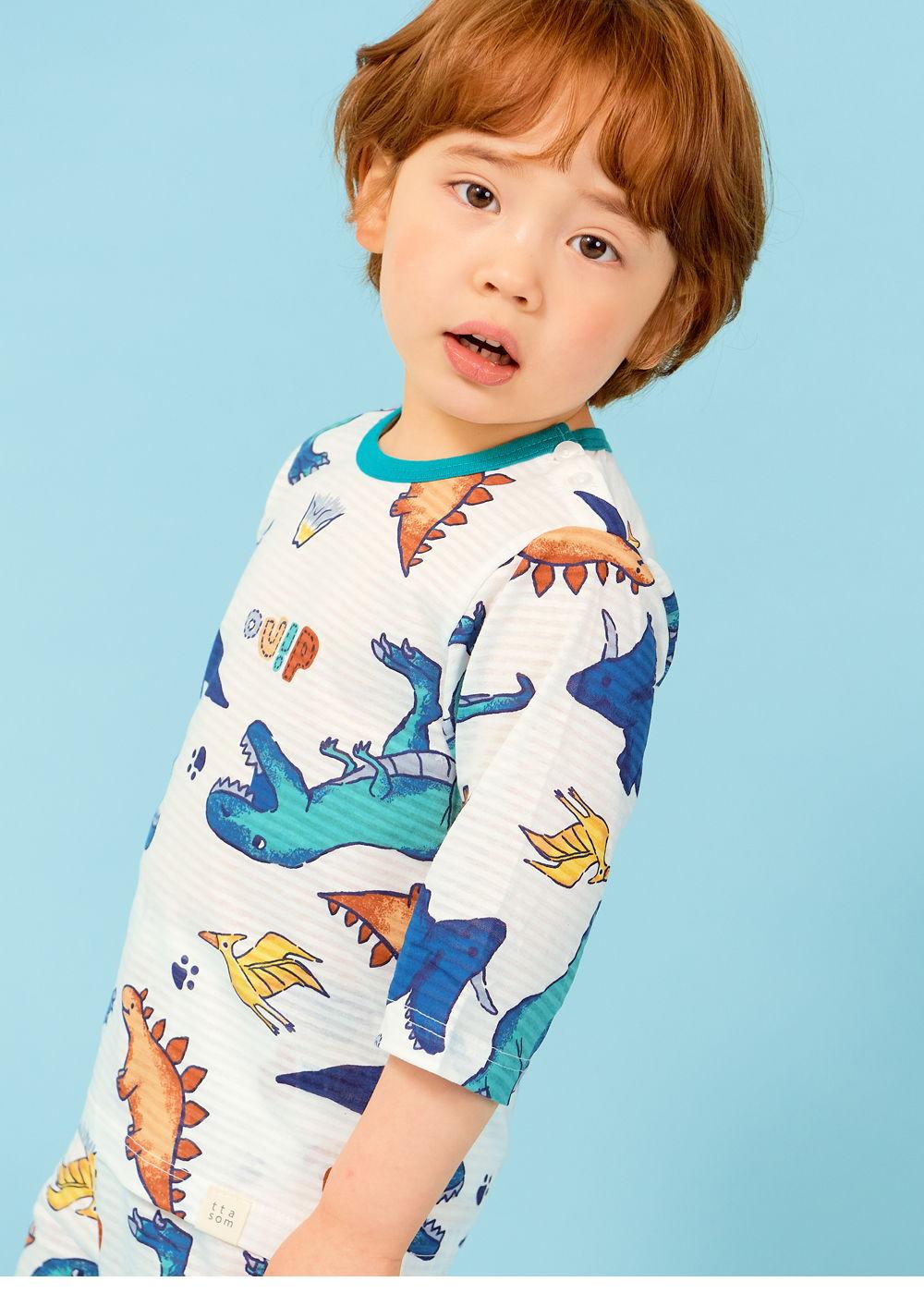 TTASOM - Korean Children Fashion - #Kfashion4kids - Find Dinosaur Easywear - 3