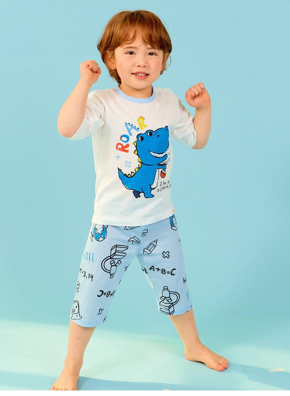 TTASOM - Korean Children Fashion - #Kfashion4kids - Scientist Dinosaur Easywear - 5