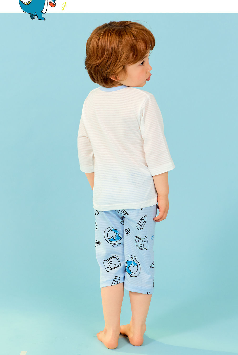 TTASOM - Korean Children Fashion - #Kfashion4kids - Scientist Dinosaur Easywear - 7