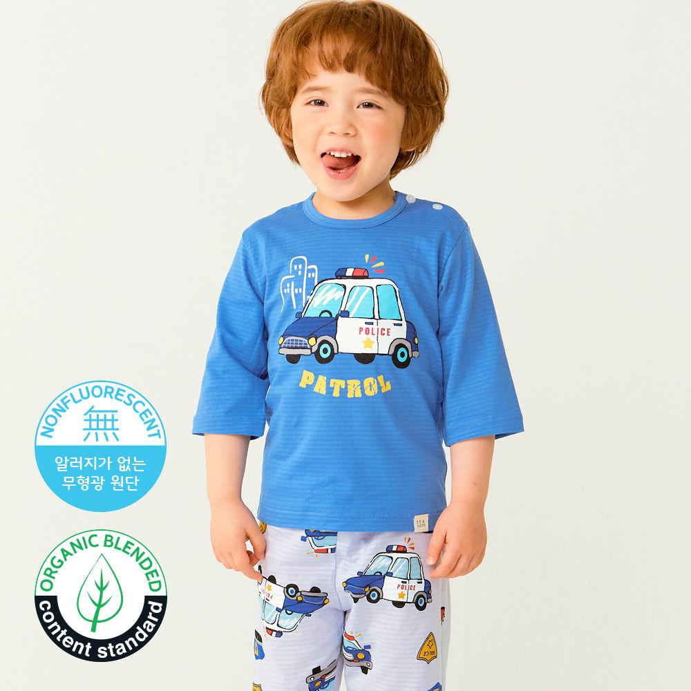 TTASOM - BRAND - Korean Children Fashion - #Kfashion4kids - Police Car Easywear