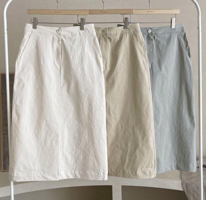 AFTERGLOW - Korean Women Fashion - #Kfashion - Diagonal Straight Skirt