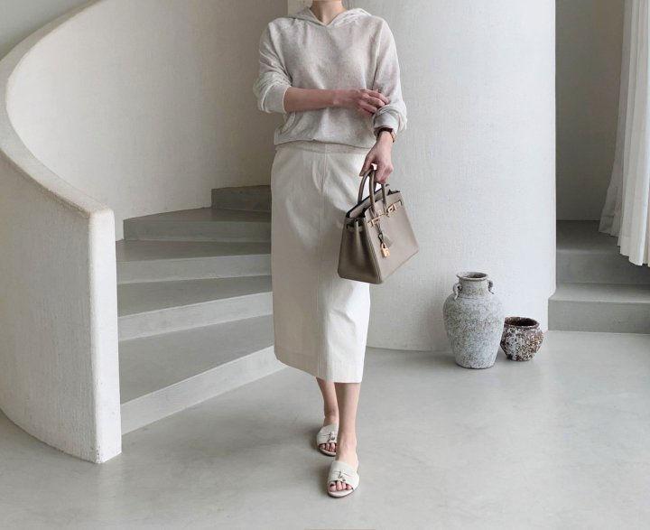 AFTERGLOW - Korean Women Fashion - #Kfashion - Diagonal Straight Skirt - 2