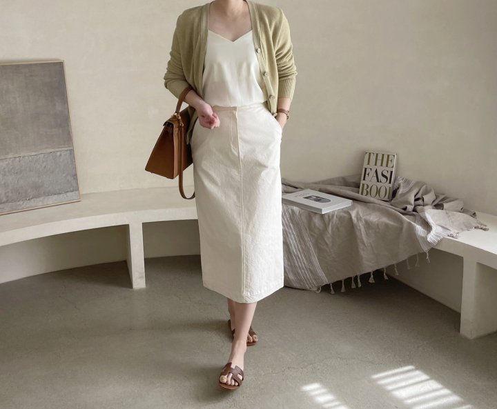 AFTERGLOW - Korean Women Fashion - #Kfashion - Diagonal Straight Skirt - 3