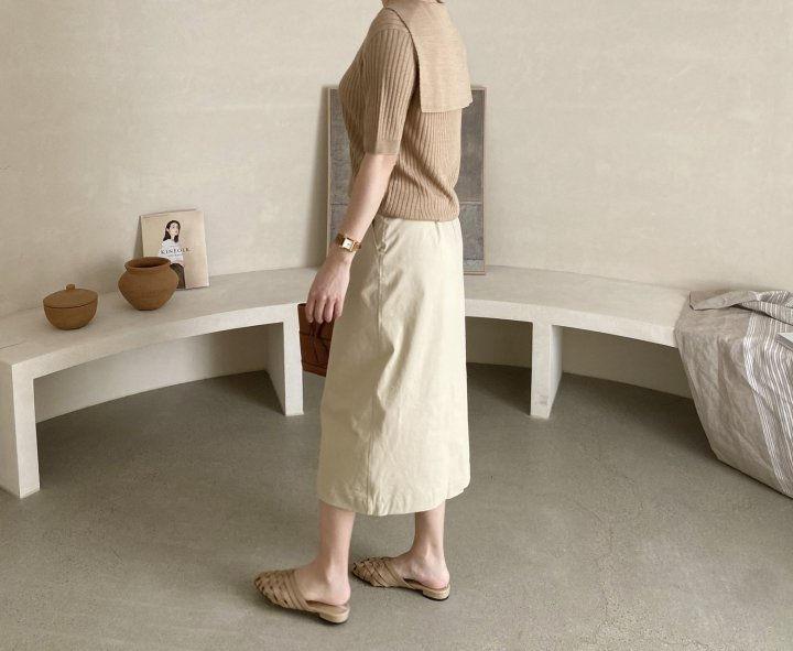 AFTERGLOW - Korean Women Fashion - #Kfashion - Diagonal Straight Skirt - 5