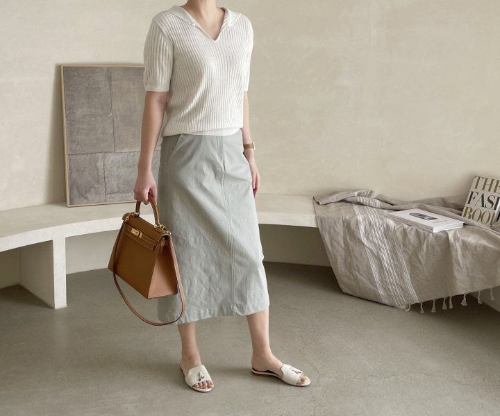 AFTERGLOW - Korean Women Fashion - #Kfashion - Diagonal Straight Skirt - 6